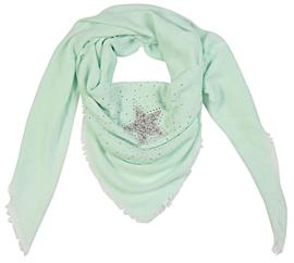 Vierkante sjaal 'star' (mint)