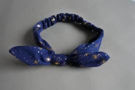 Baby haarbandje met oortje 'blauw/ster'