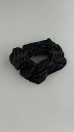 Scrunchie rib fluweel 'zwart'