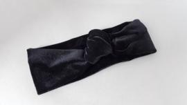 Baby/ peuter haarbandje met knoop 'zwart'