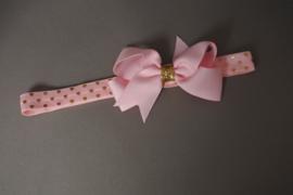 Baby/ peuter haarband met strik