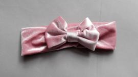 Baby / peuter haarbandje met strik 'roze'
