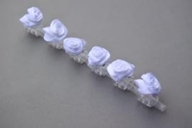 Haarklemmetjes met roosje 'wit'