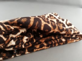 Haarband panterprintje 'bruin/cognac'