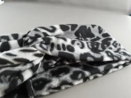 Haarband panterprint 'grijs'