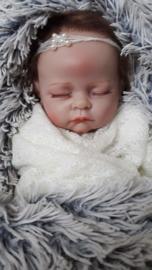 Newbornset wrap + bijpassend haarbandje 'ivoor'