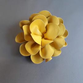 Leren bloem 'geel'