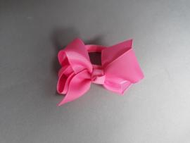 Elastiek strik 'donker roze'