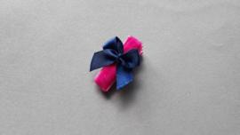Anti slip baby haarspeldje 'fuchsia/blauw'