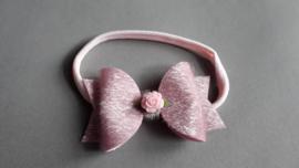 Haarbandje met strik 'roze'