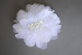 Grote feestelijke bloem 'wit'
