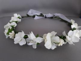 "Bloemen haarband 'off white"""