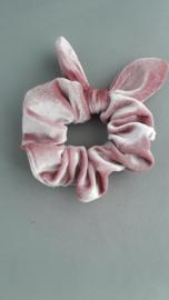 scrunchie met oortjes 'roze'