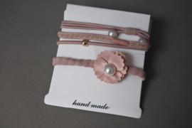 Set elastieken 'roze'