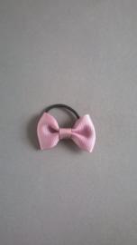 Klein elastiekje met strikje 'oud roze'