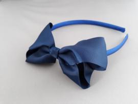 Diadeem met strik blauw