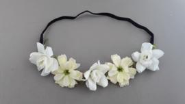 Bloemen haarbandje 'creme/wit'
