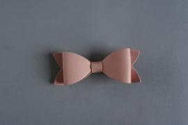 Leren strik 'roze'