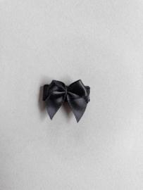 Baby klittenband haarspeldje strikje 'zwart'