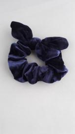 Scrunchie met oortjes 'blauw'