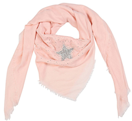 Vierkante sjaal 'star' (roze)