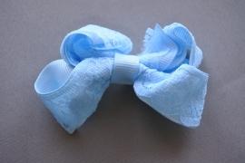 Strikje met kant 'blauw'
