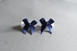 Baby elastiekje met strikje 'blauw/wit'