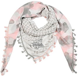 Vierkante sjaal met ster (roze)