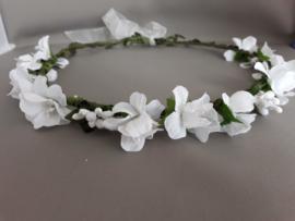 Bloemen haarband 'wit'