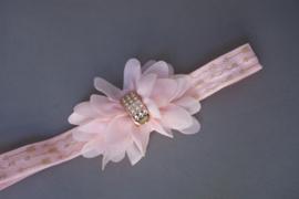 Baby/ peuter haarbandje met chiffon bloem