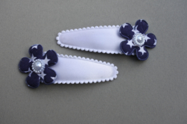 Kinder haarknipjes 'wit/blauw'