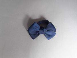 Elastiek met strik 'blauw'