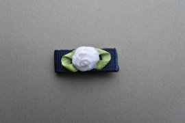 Baby klittenband speldje 'blauw/wit'