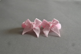 Baby elastiekje met strikje 'roze'