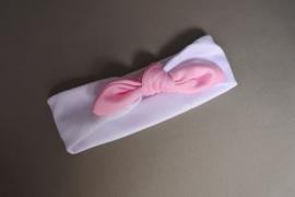 Baby / peuter haarbandje 'wit/roze'