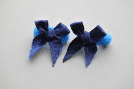 Baby elastiekje 'blauw/strikje'