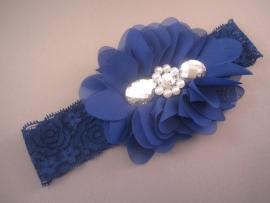 Haarbandje van kant 'blauw'