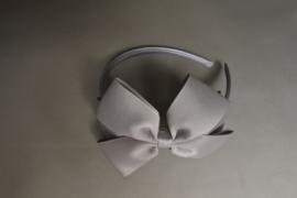 Haarband met strik 'grijs'
