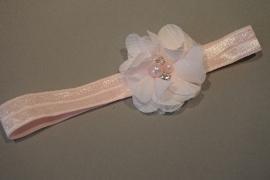 Newborn haarbandje 'bloem/parel'