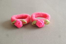 Baby elastiekje  'fel roze'