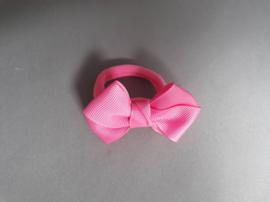 Elastiek met strik 'donker roze'