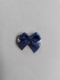 Baby klittenband haarspeldje met strikje 'blauw/printje'