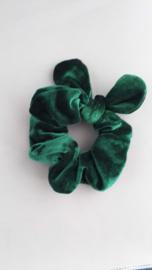 Scrunchie met oortjes  'groen'