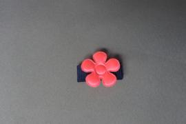 Baby klittenband haarspeldje met bloem