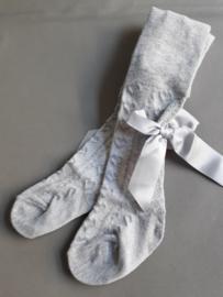 Baby maillot met strikje (grijs)