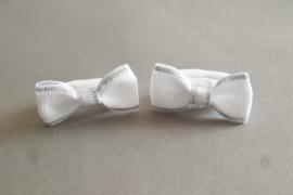 Baby elastiekje stikje 'wit/zilver'