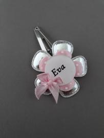 Haarspeldje met naam 'roze/zivler'