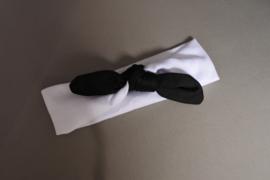 baby / peuter haarbandje 'wit/ zwart'