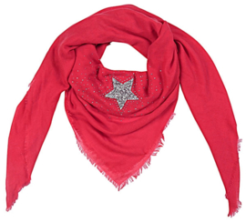 Vierkante sjaal 'star' (red)