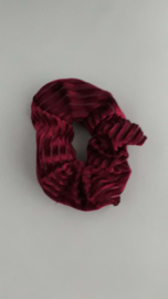 Scrunchie ribfluweel 'bordeaux'